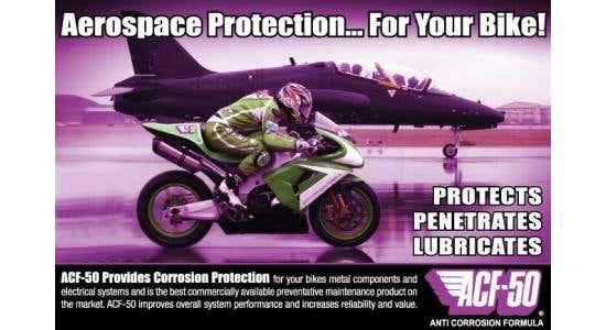 Professional  ACF50, bike anti-corrosion treatment here Saturday February 29th, 2020