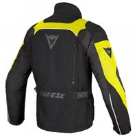 Dainese Tempest D-Dry Waterproof Jacket - Black Yellow - Back