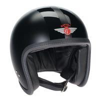 Davida Speedster V3 Helmet - Matt Black / Gloss Stripe