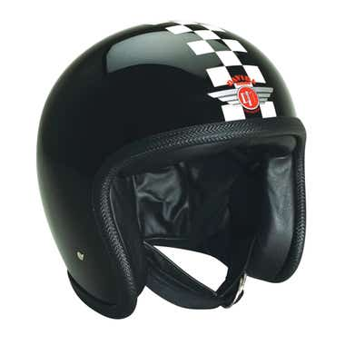 Davida Speedster V3 Helmet - Black / White Check