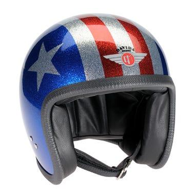Davida Speedster V3 Helmet - Cosmic Flake Blue / Red / 3 Star