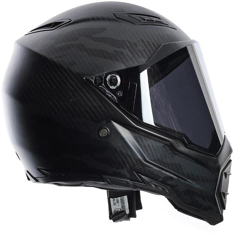 AGV AX-8 Naked Carbon Helmet - Matt Carbon ⋆ Motorcycles R Us