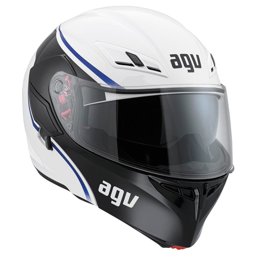 AGV Compact Course Helmet - White / Blue