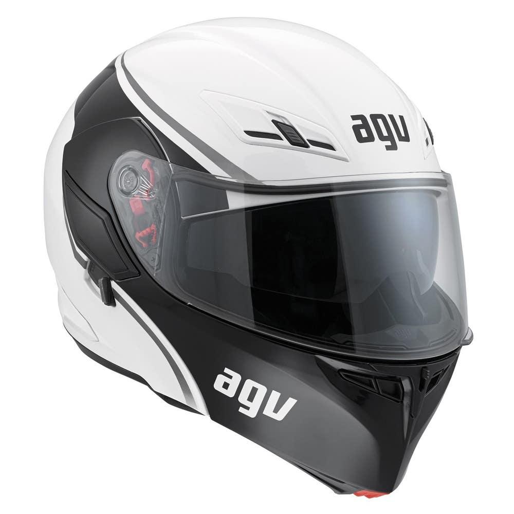 AGV Compact Course Helmet - White / Gun Front Right