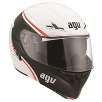 AGV Compact Course Helmet - White / Red Front Right