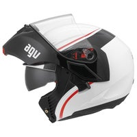 AGV Compact Course Helmet - White / Red Left
