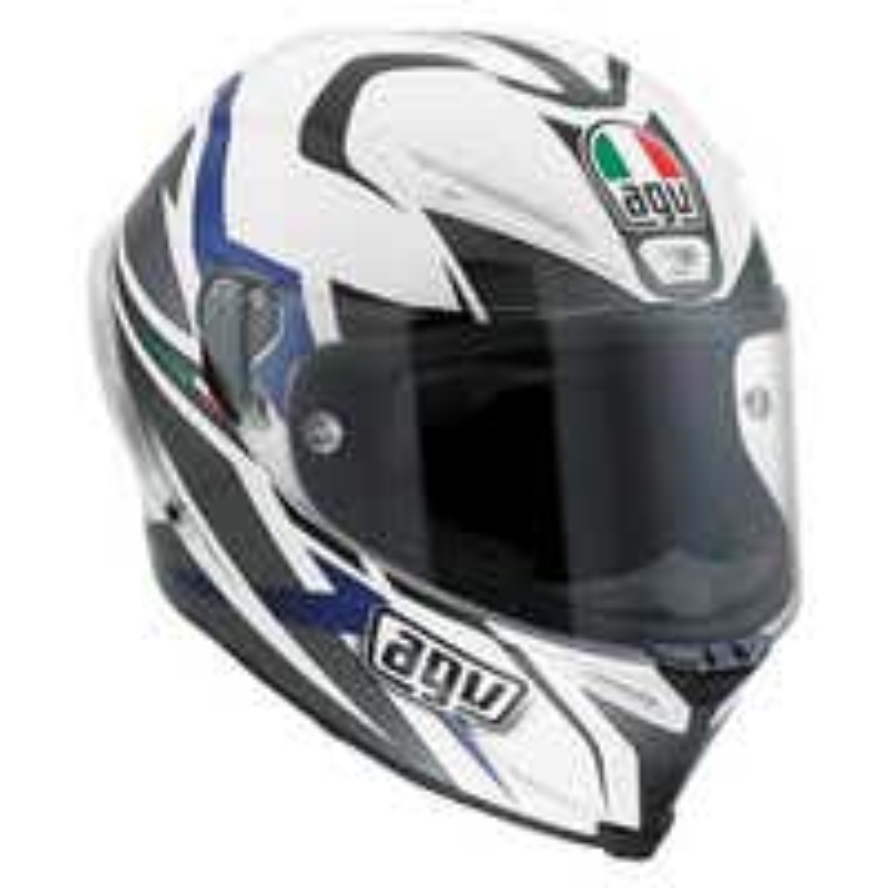 AGV Corsa Velocity Helmet - White / Black / Blue