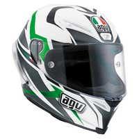 AGV Corsa Velocity Helmet - White / Black / Green