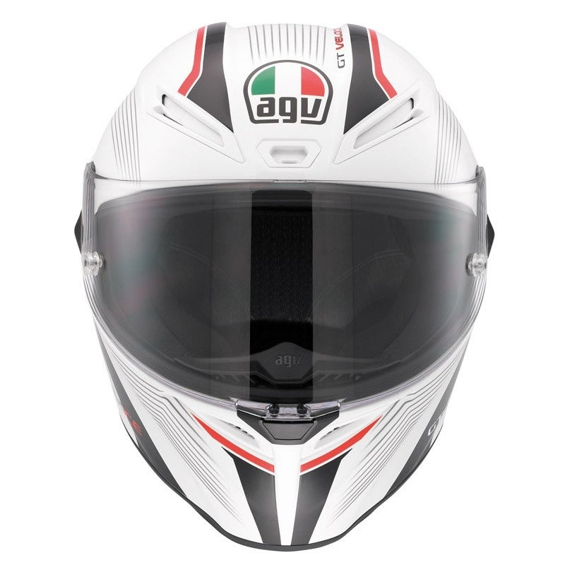 AGV GT Veloce Aspide Helmet - White / Black / Red