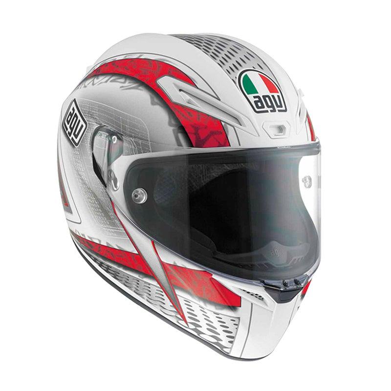 AGV GT Veloce Cyborg Helmet - Black / Grey | Motorcycle