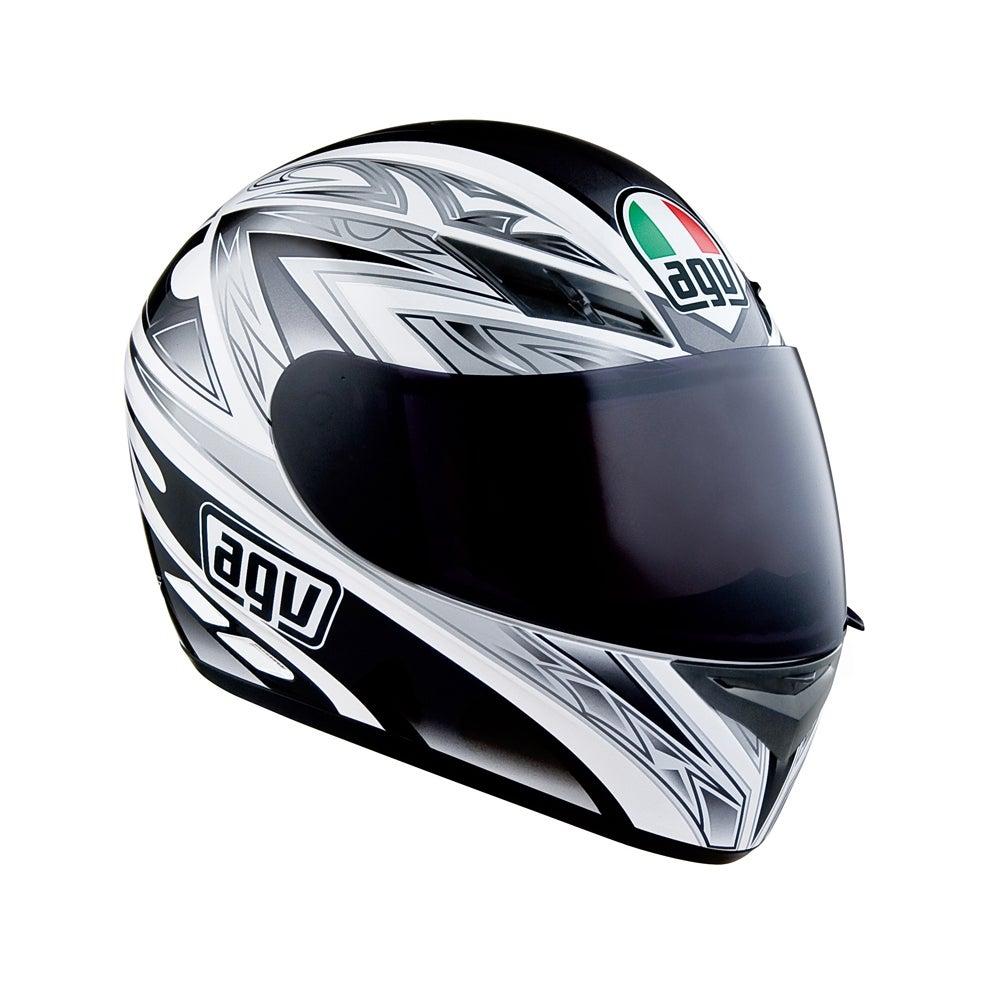 AGV K3 Basic One Helmet - White / Black