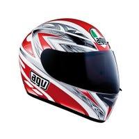AGV K3 Basic One Helmet - White / Red