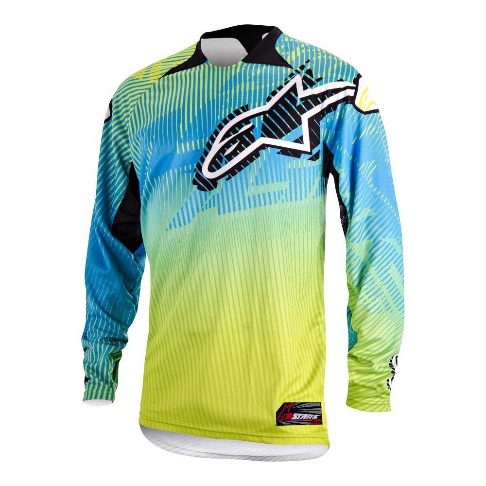 Alpinestars Charger Motocross Jersey - Lime Green