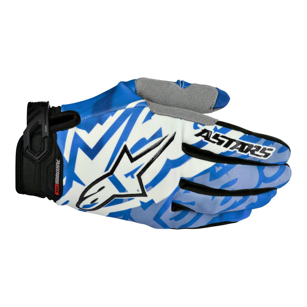 Alpinestars Racer Motocross Gloves - Blue