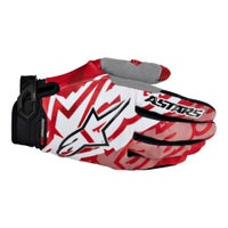 Alpinestars Racer Motocross Gloves - Red / Black