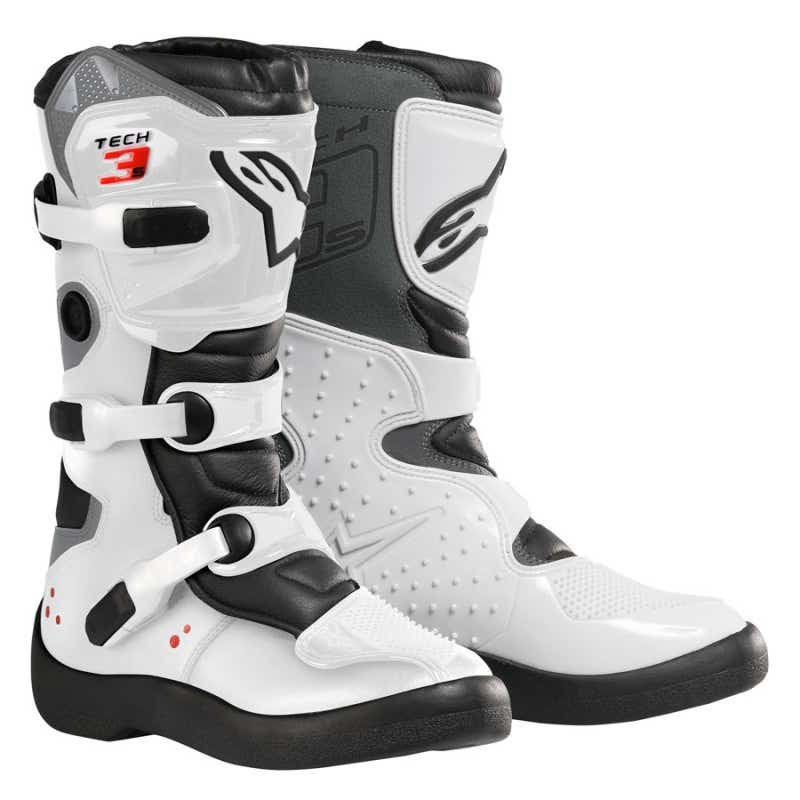 Alpinestars Tech 3 Youth Motocross Boots - White