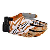 Alpinestars Youth Racer Motocross Gloves - Orange / Black