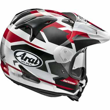 ARAI TOUR-X 4 HELMET - DEPART METALLIC: Red: XS