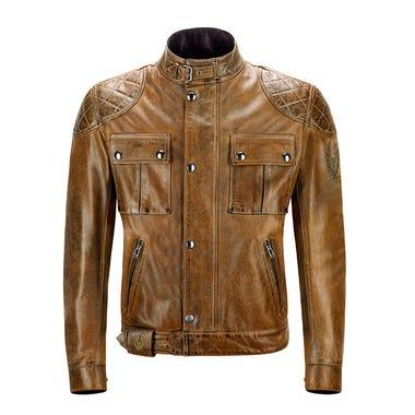 Belstaff Brooklands Waxed Leather Jacket - Burnt Cuero
