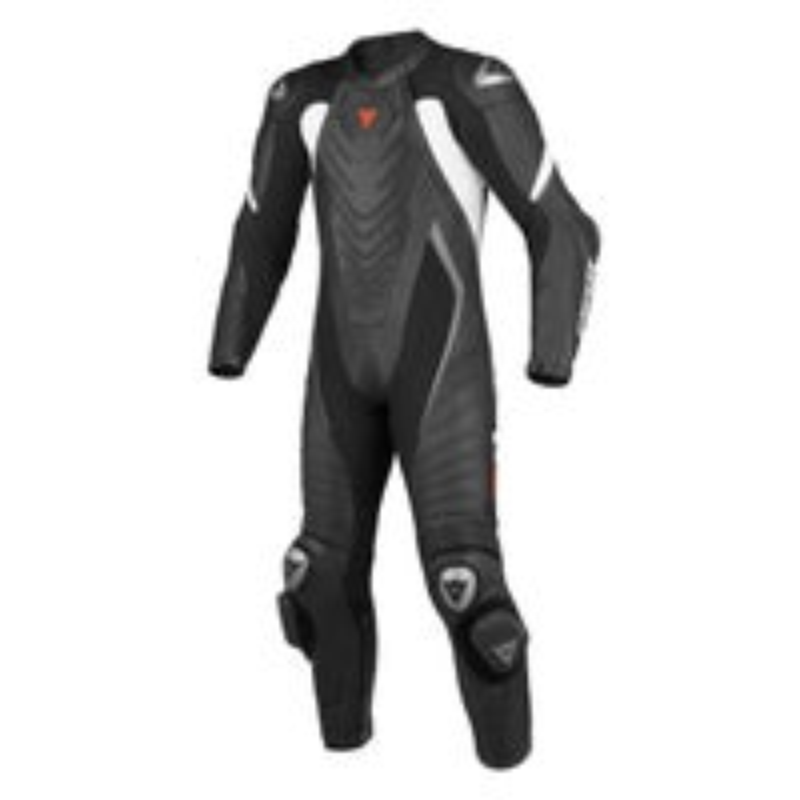 Dainese Aero Evo One Piece Leather Suit - Black / White