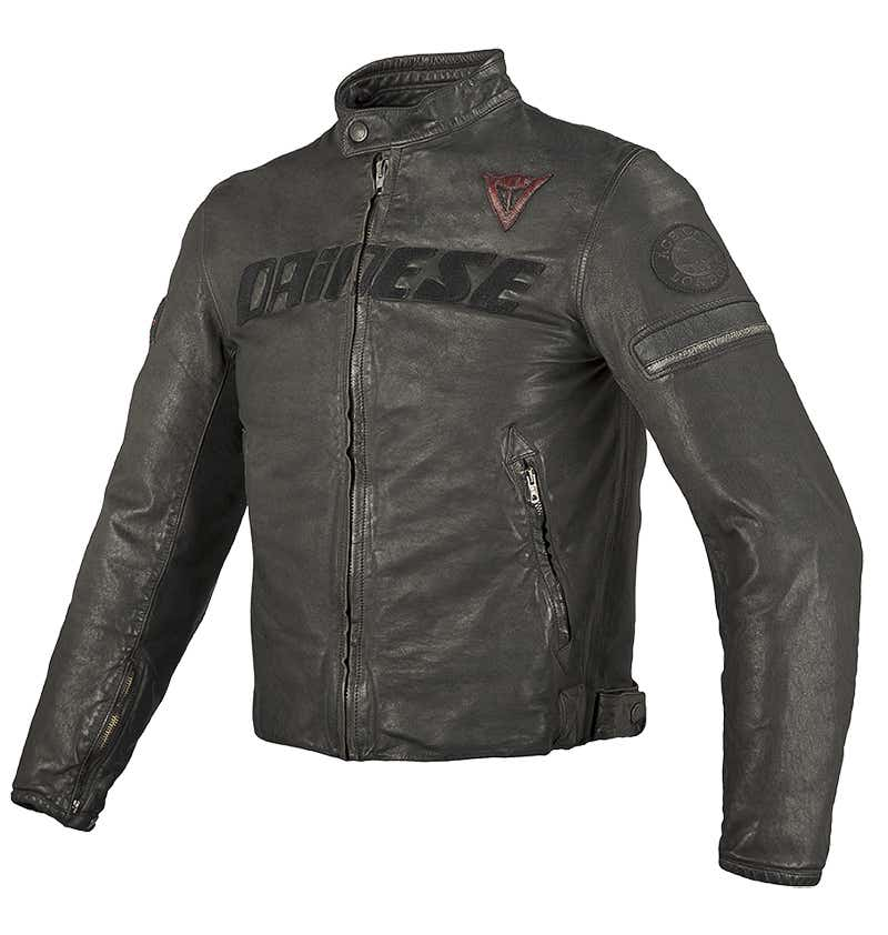 Dainese Archivio Leather Jacket - Black Ace
