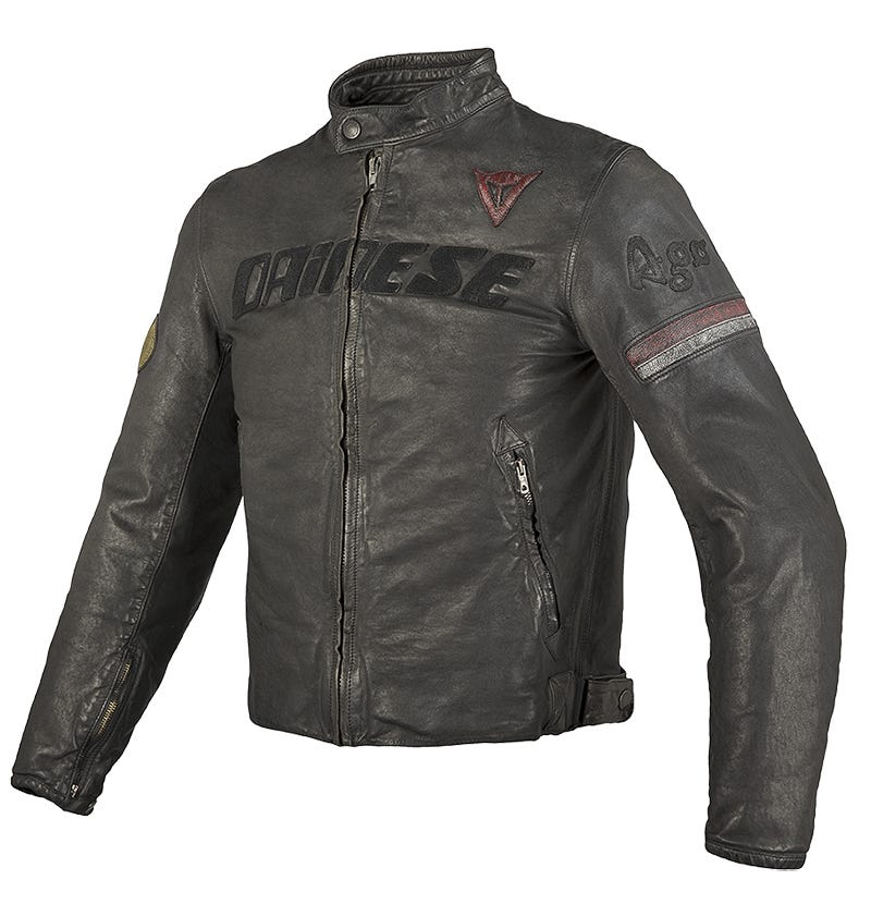 Dainese Archivio Leather Jacket - Black Ago