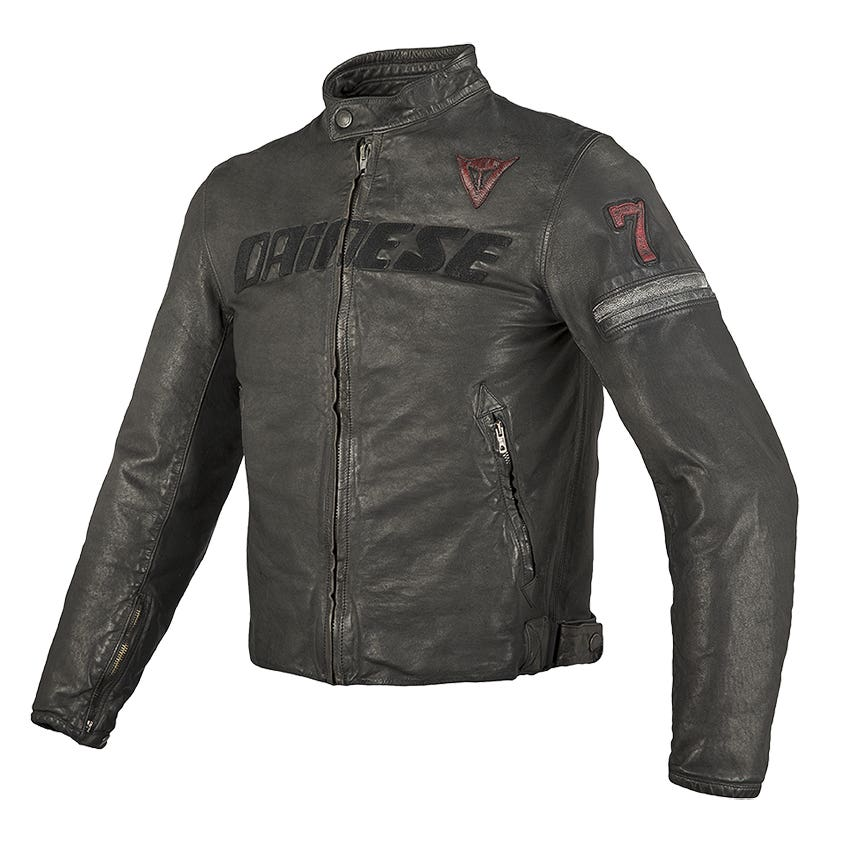 Dainese Archivio Leather Jacket - Black Seven