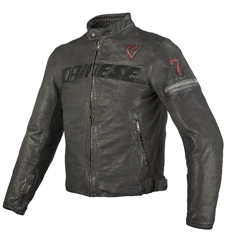 Dainese Archivio Leather Jacket - Black Seven