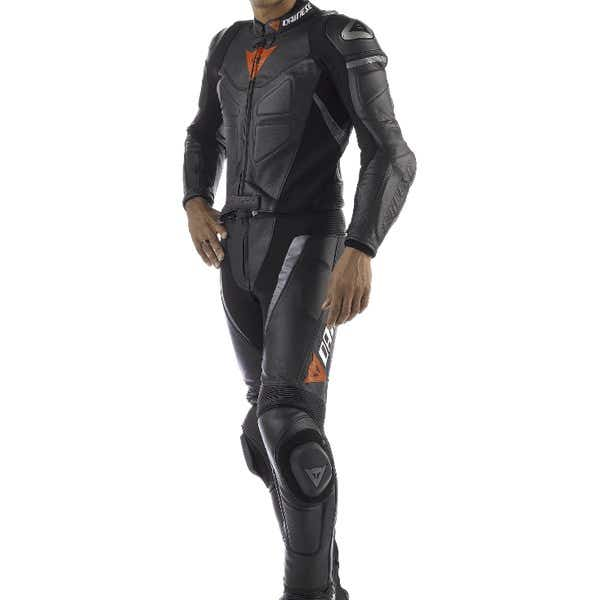 Dainese Avro Two Piece Leather Suit - Black / Black / Anthracite