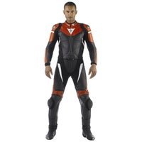 Dainese Avro Two Piece Leather Suit - Black / Red / White