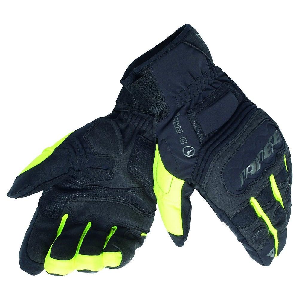 Dainese Clutch Evo D-Dry Waterproof Gloves - Black / Yellow