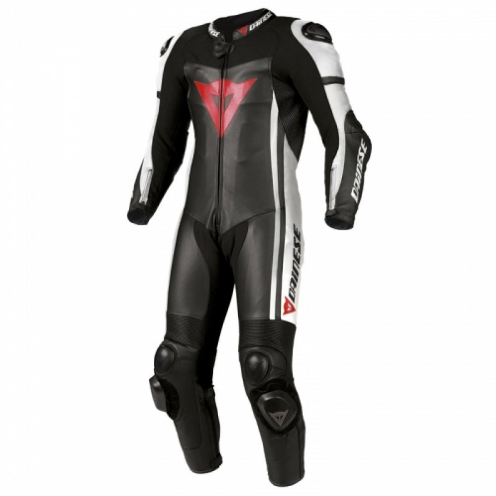 Dainese D-air Race One Piece Leather Suit - Black / White