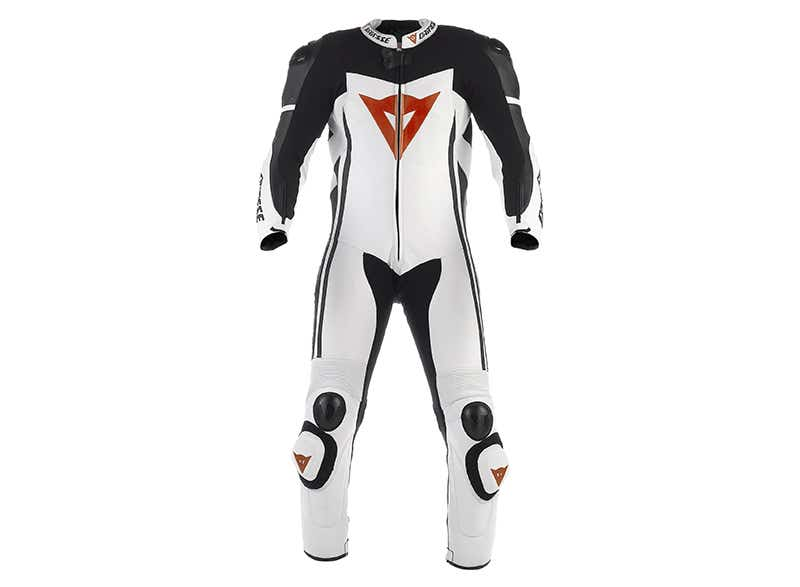 Dainese D-air Race One Piece Leather Suit - White / Black