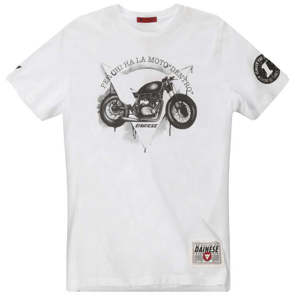 Dainese Dark Custom T-Shirt - White