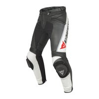 Dainese Delta Pro C2 Leather Trousers - Black / White
