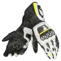 Dainese Full Metal D1 Gloves - Black / White / Fluoro Yellow