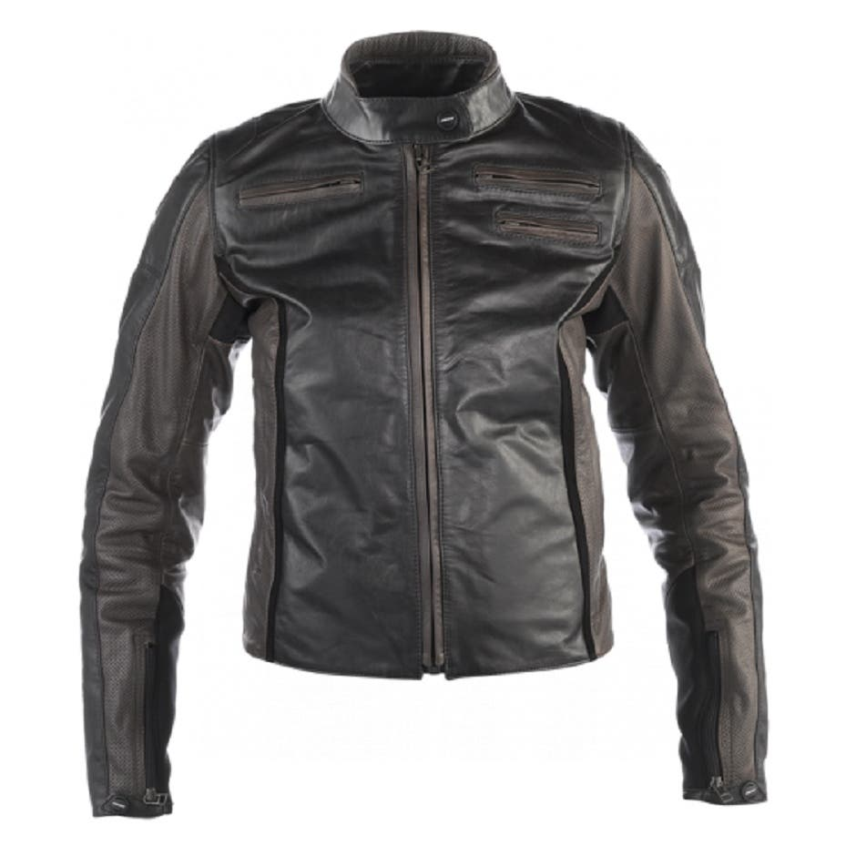Dainese Ladies' Arwen Leather Jacket - Black / Black / Anthracite