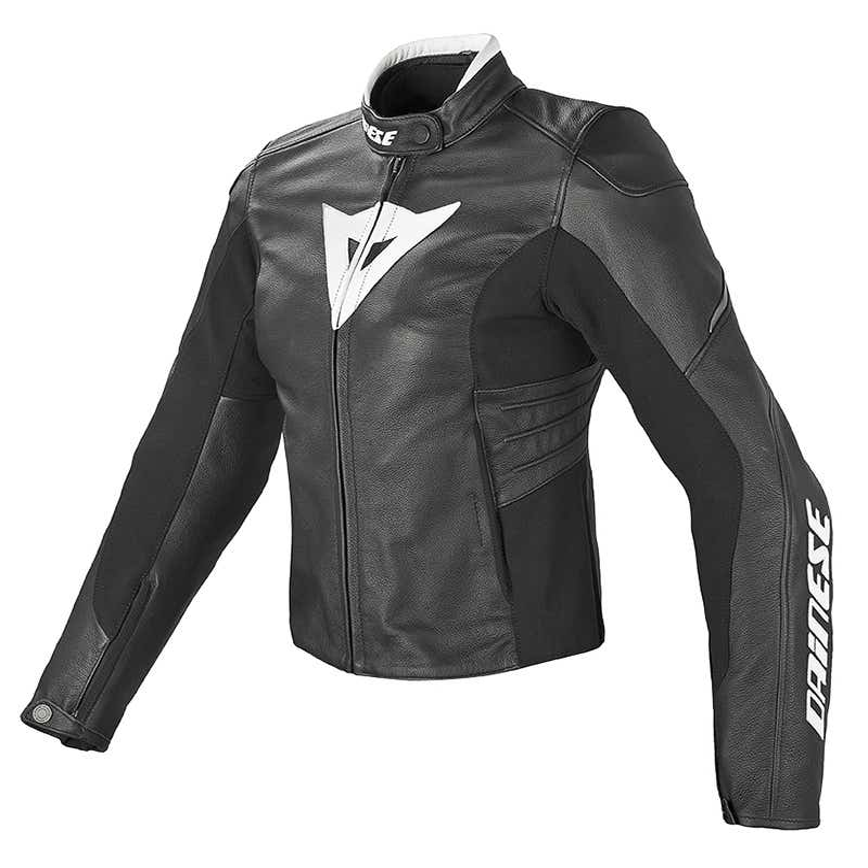 Dainese Ladies' Laguna Evo Leather Jacket - Black / White