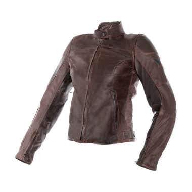 Dainese Ladies' Mike Leather Jacket - Dark Brown