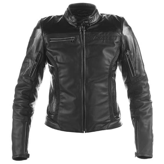 Dainese Ladies' Nikita Leather Jacket - Matt Black