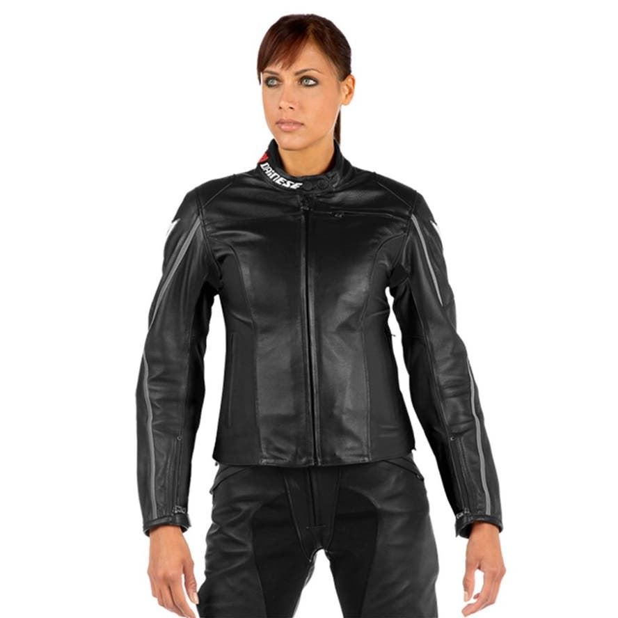 Dainese Ladies' SF Lady Leather Jacket - Black f