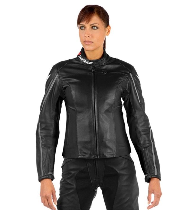 Dainese Ladies' SF Lady Leather Jacket - Black f