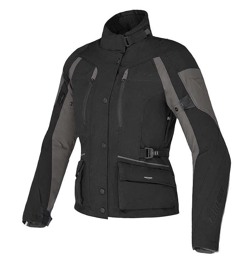 Dainese Ladies' Temporale D-Dry Waterproof Jacket - Black / Dark Gull Grey