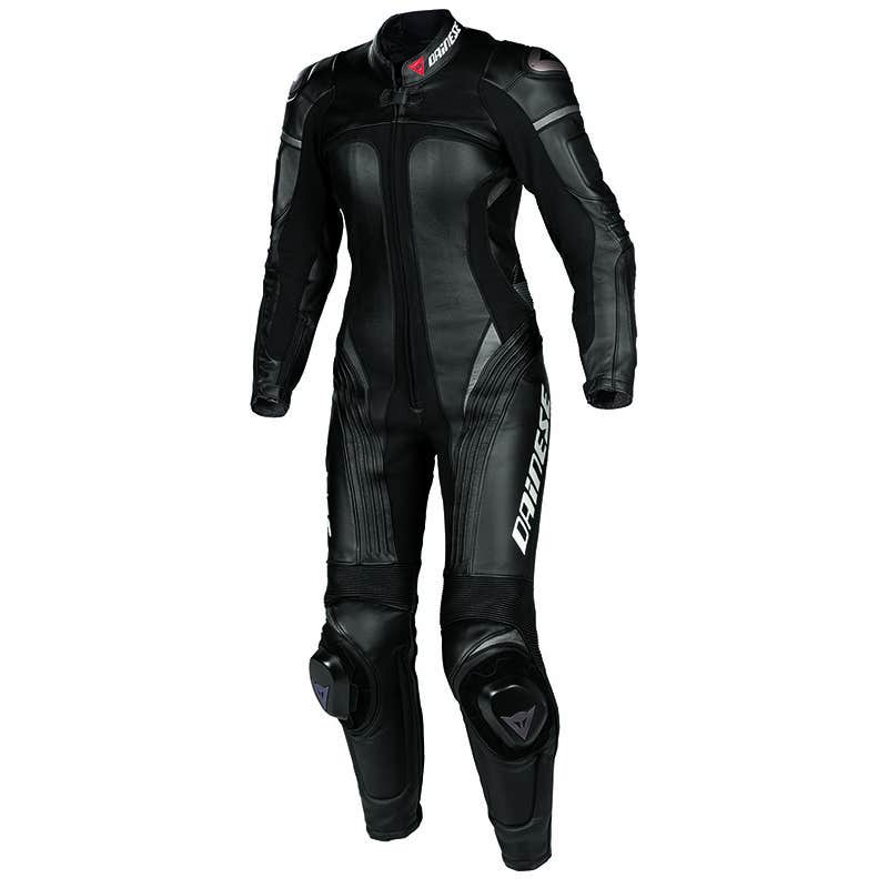 Dainese Ladies' Victoria One Piece Leather Suit - Black / Black / Anthracite