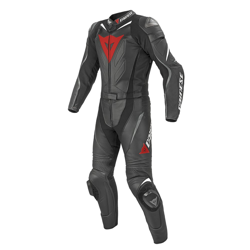 Dainese Laguna Seca Evo Two Piece Leather Suit - Black / Anthracite / White