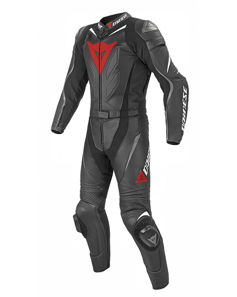 Dainese Laguna Seca Evo Two Piece Leather Suit - Short - Black / Anthracite / White
