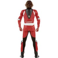 Dainese Laguna Seca One Piece Leather Suit - Red / White