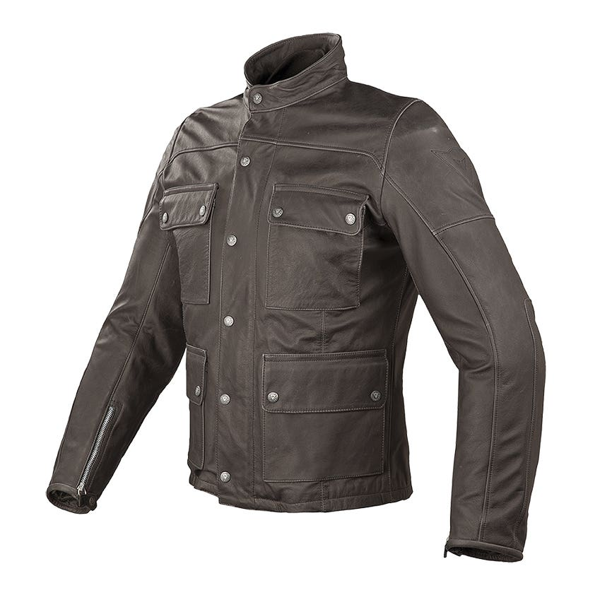 Dainese Maverick Leather Jacket - Dark Brown