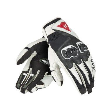 Dainese Mig C2 Gloves - Black / White / Black