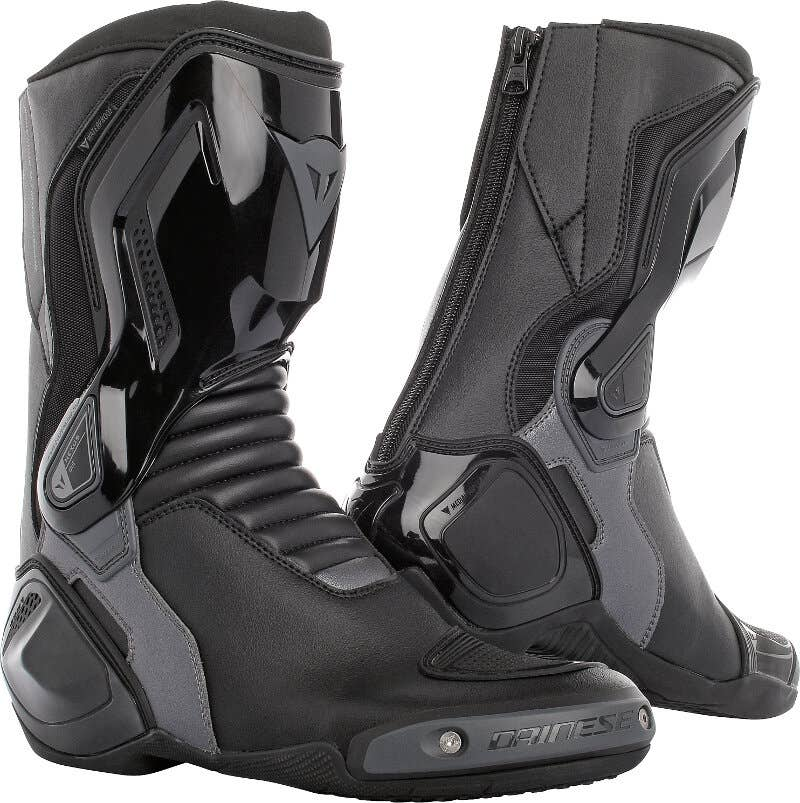 13 VASTER Waterproof Motorcycle Leather Boots Motorbike Touring Shoes Black CE Armoured Rider Boots for Men EU 45